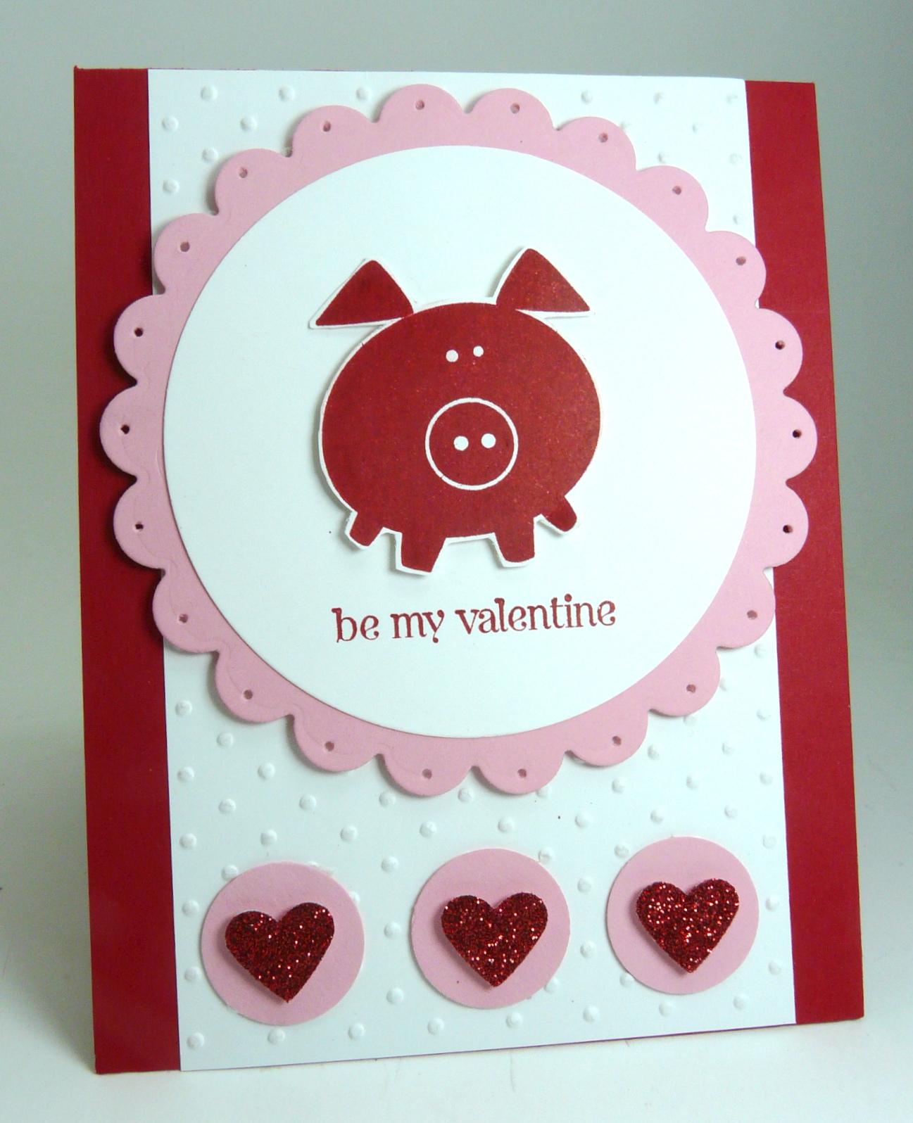 Valentine – Pig Valentine Cards