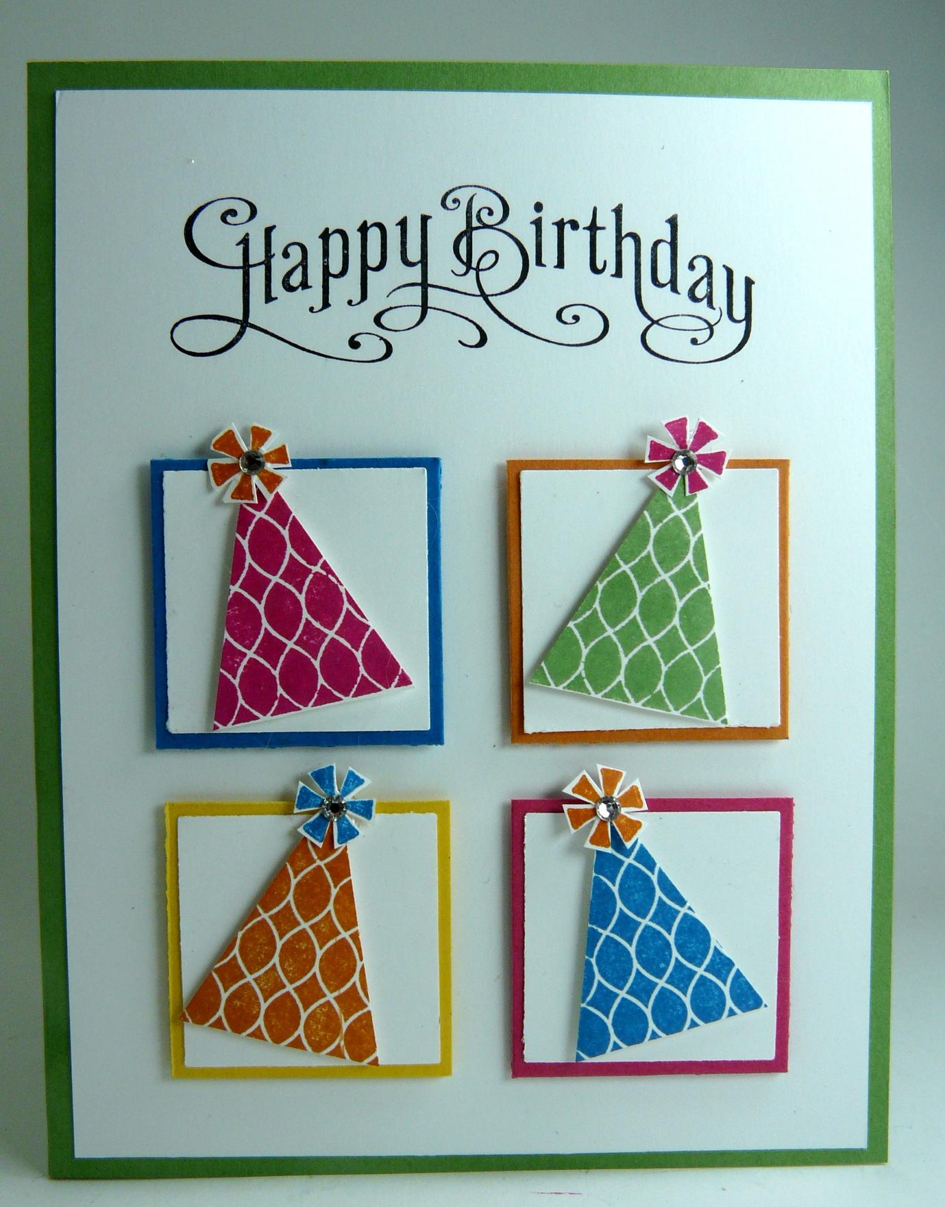 Лёгкие открытки с днем рождения своими руками